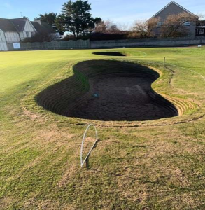 Figure 7. One of 15 bunkers completely reconstructed this winter